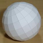 Cardboard spheres...